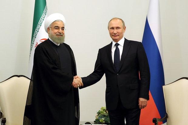 Rouhani and Putin meet in Baku