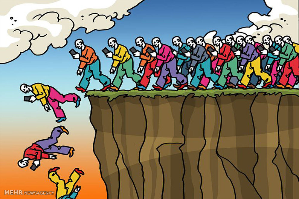 İnternet Bağımlılığı / Karikatür