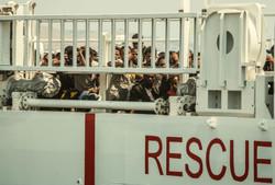 Red Cross rescues over 300 migrants in Mediterranean