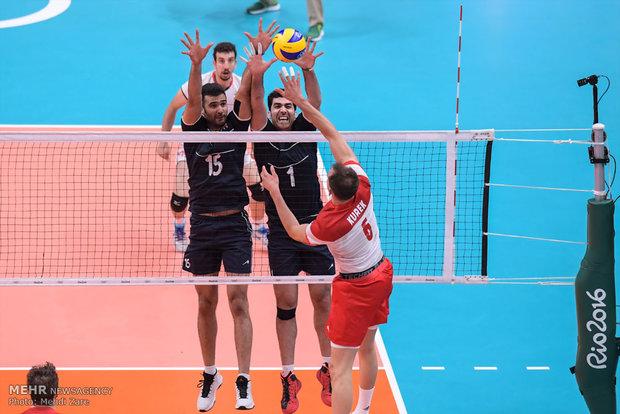 دیدار تیم های والیبال ایران و لهستان - المپیک 2016 ریو