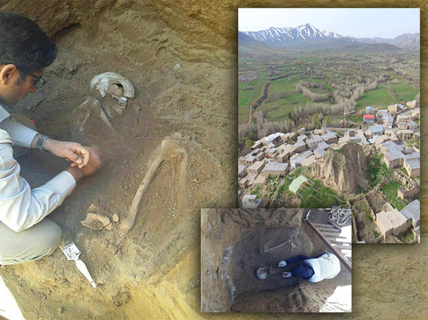 اكتشاف هيكل عظمي عمره 7500 سنة في ايران