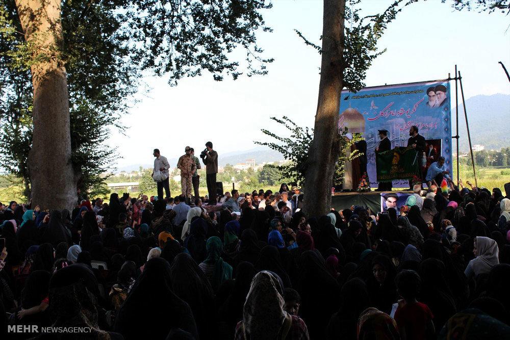 حضور کاروان خادمان رضوی در ماچیان رودسر