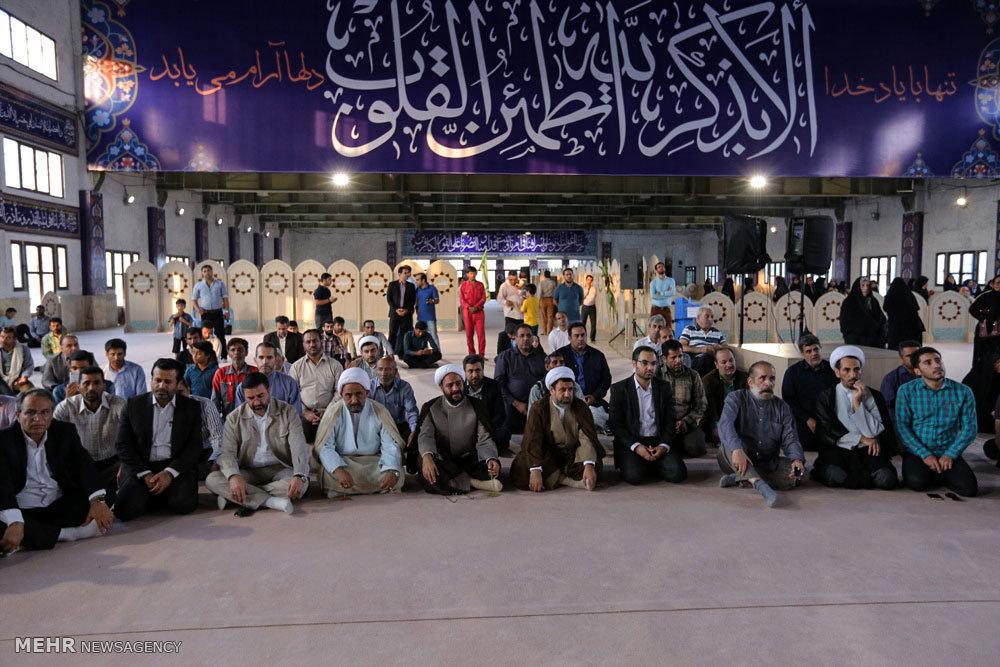 استقبال از ورود درب حرمین امامین عسکریین (ع) در جزیره کیش