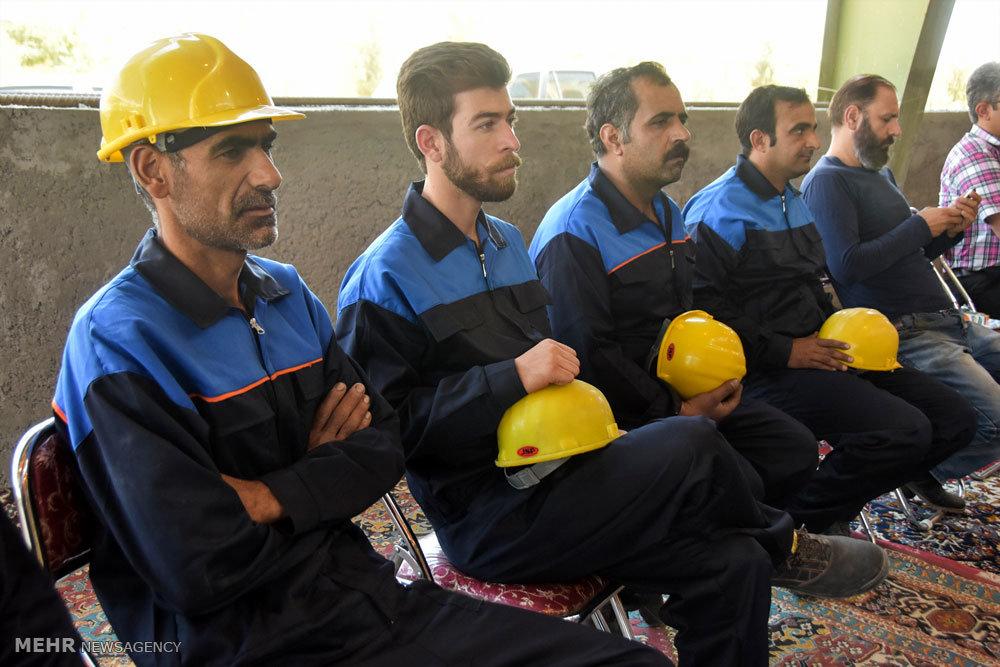 بهره برداری از یک واحد تولید مقاطع فولادی در شهرضا