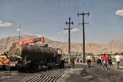 Kirmanşah'ta yakıt tankeri patladı