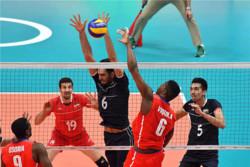دیدار تیم های ملی والیبال ایران و کوبا
