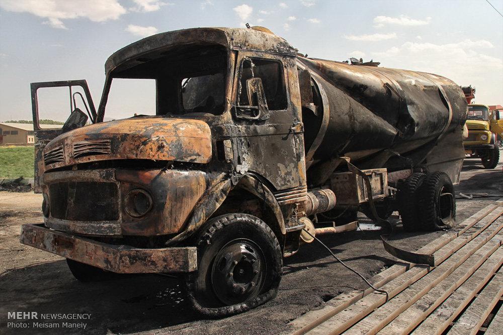 انفجار تانکر حامل سوخت در کرمانشاه