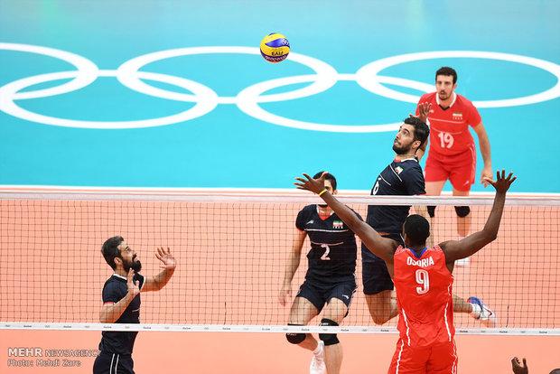 دیدار تیم های والیبال ایران و کوبا