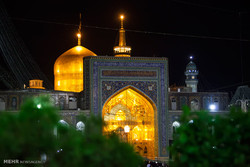 Imam Reza Shrine on eve of his birthday
