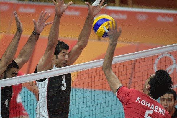 دیدار تیم های ملی والیبال ایران و مصر