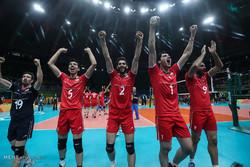 دیدار تیم ملی والیبال ایران و مصر در المپیک 2016 ریو
