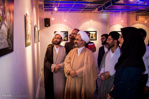 افتتاح نمایشگاه عکس قدم های آسمانی تا امام مهربانی
