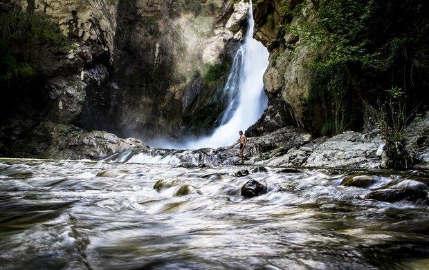 Shalmash Waterfall in Western Azarbaijan Province