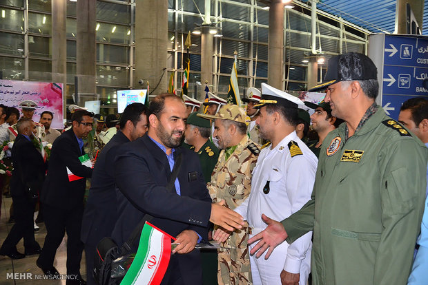 Iranian military teams return home from Russian games