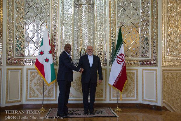 Zarif meets with Burundi counterpart