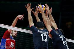 دیدار تیم های والیبال ایران و روسیه در المپیک2016ریو