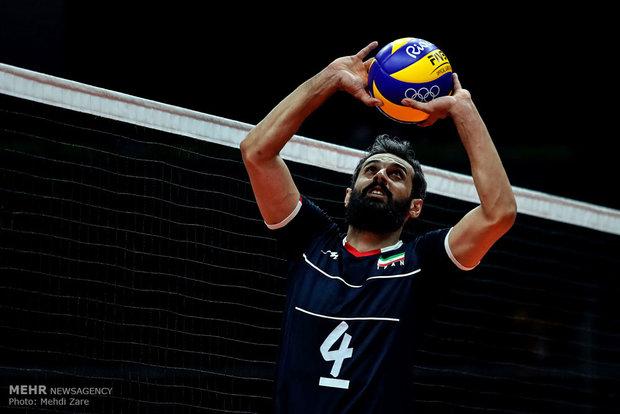 سعید معروف در دیدار تیم های والیبال ایران و روسیه در المپیک2016ریو