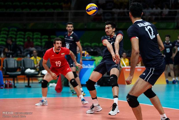 فرهاد قائمی در دیدار تیم های والیبال ایران و روسیه در المپیک2016ریو