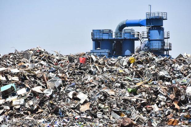 کارخانه بازیافت ضایعات و خرده های فلزی در شهرضا اصفهان