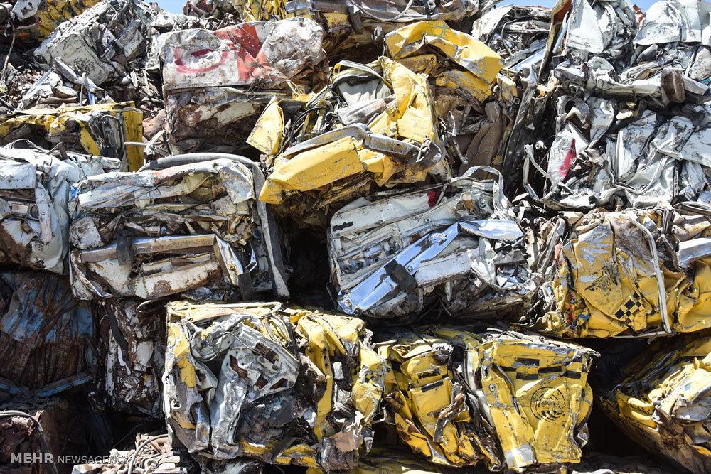 کارخانه بازیافت ضایعات و خرده های فلزی