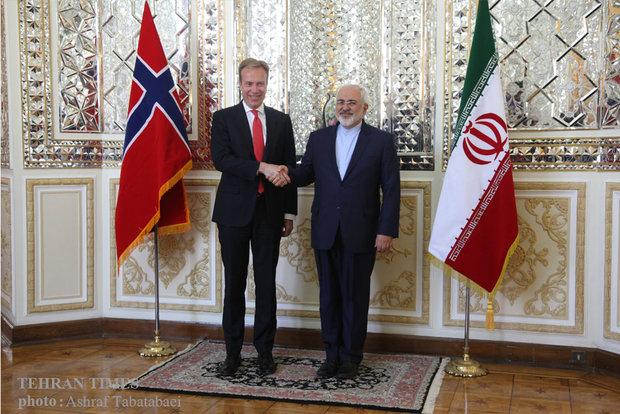 Zarif meets Norwegian counterpart in Tehran