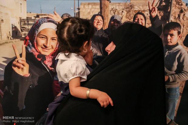 """""""باسم الزيتون"""" معرض تصويري لتحرير نبل والزهراء"""