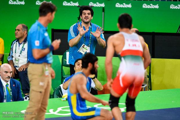 رسول خادم در مسابقات کشتی آزاد المپیک ریو 2016