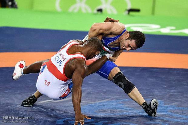 حسن رحیمی در مسابقات کشتی آزاد المپیک ریو 2016