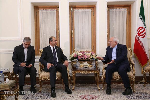 Zarif meets Iraqi Parliament Speaker