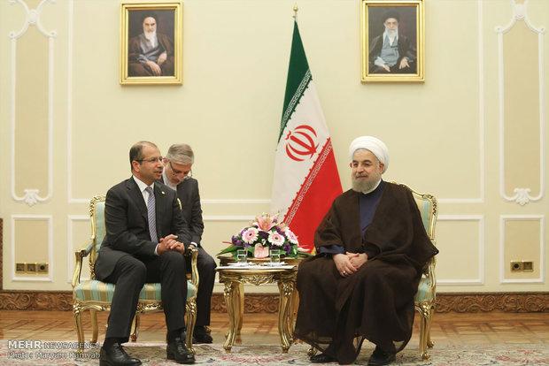 دیدار رئیس پارلمان عراق با رئیس جمهور