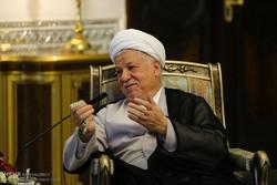 دیدار سلیم الجبوری رییس پارلمان عراق با علی اکبر هاشمی رفسنجانی رئیس مجمع تشخیص مصلحت نظام