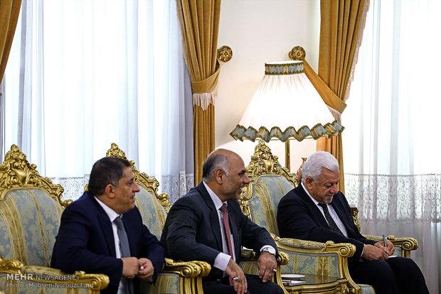 دیدار سلیم الجبوری رییس پارلمان عراق با علی شمخانی دبیرشورای عالی امنیت ملی