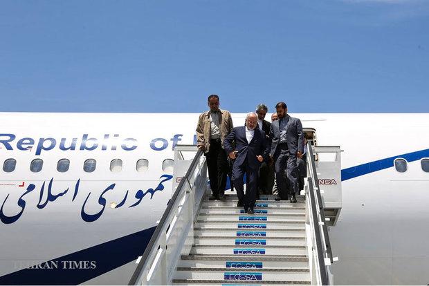 Zarif arrives in Baghdad ahead of Pres. Rouhani's visit