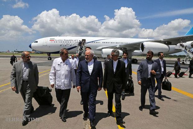 Zarif arrives in Cuba