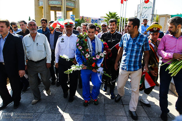 Iran's Rio 2016 gold winner returns home