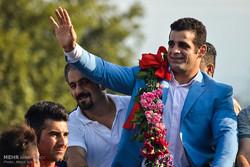 استقبال مردمی از قاسم رضایی دارنده مدال برنز مسابقات المپیک
