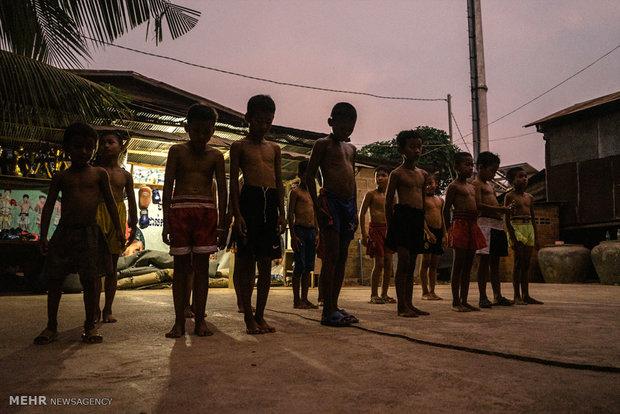 بوکسورهای خردسال کامبوج