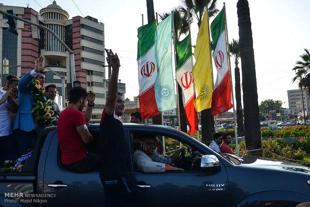 Rio bronze medalist welcomed in Iran