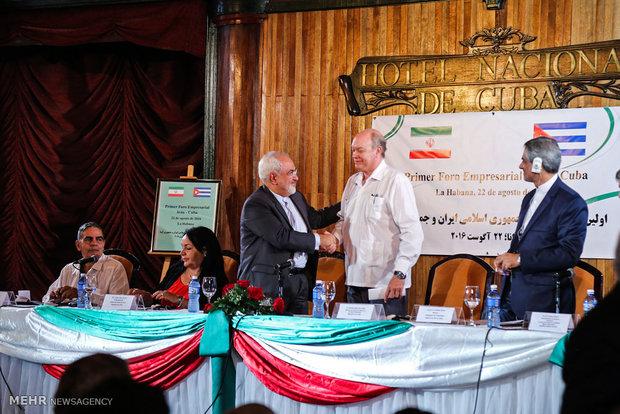 Zarif attends Iran-Cuba Joint Economic Forum