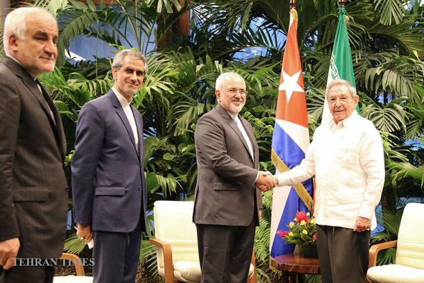 Zarif meets Cuban president in Havana