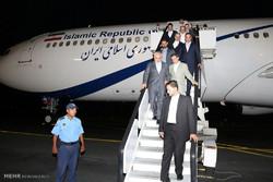 Zarif's arrival in Nicaragua
