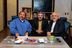 دیدار محمد جواد ظریف وزیر امور خارجه با دانیل اورتگا رئیسجمهور نیکاراگوئه
