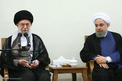 دیدار رئیس جمهور و اعضاء هیات دولت با رهبر معظم انقلاب