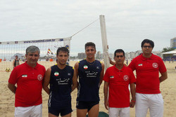 Iran competing at Rio 2016 Footvolley World Tournament