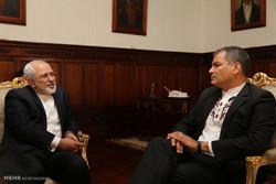 Zarif ile Ekvador Cumhurbaşkanı görüşmesi
