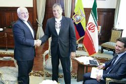 محمد جواد ظریف کی اکواڈور کے صدر سے ملاقات