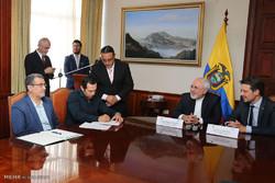 دیدار محمد جواد ظریف وزیر امور خارجه با وزیر خارجه اکوادور