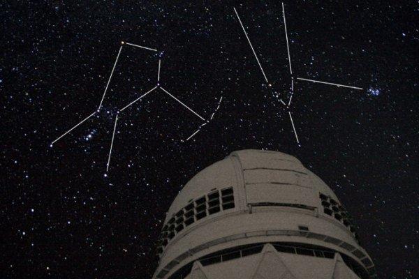 تصویر نمایشی از رصد ماه و ستاره الدبران