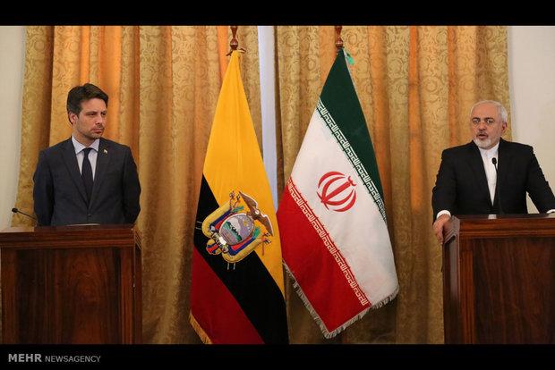 Zarif, Ecuadorian counterpart talk bilateral ties