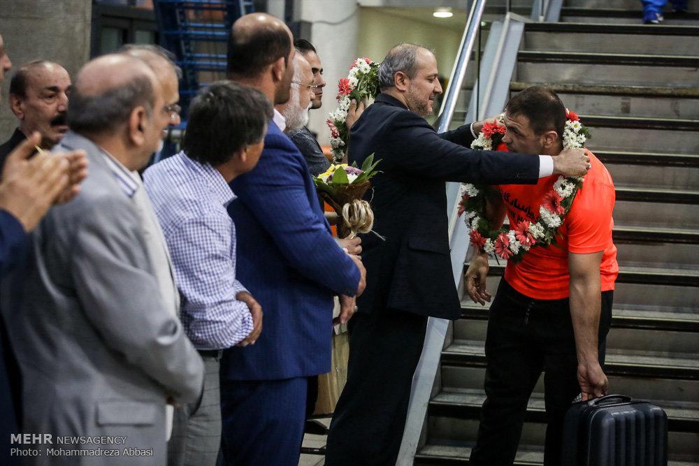 بازگشت کاروان کشتی آزاد ایران از مسابقات المپیک ریو 2016